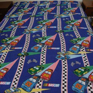 Vintage NASCAR Race Cars Twin Fitted + Flat Sheets